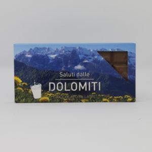 """Cioccolato al latte """"saluti dalle Dolomiti"""""""